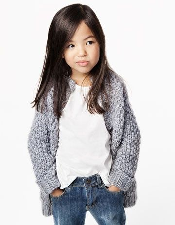 All the girls (big or small) should have a chunky knitted cardigan this fall!!