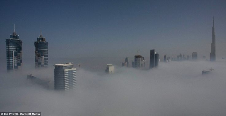 City In The Clouds: The Buildings In Dubai Are Shrouded In Clouds For Two  Periods