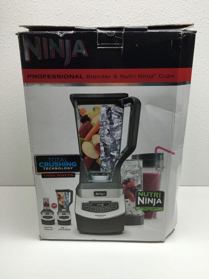 Ninja Professional Blender & Nutri Ninja Cups 1100 Watts Total Crushing Unused #Ninja
