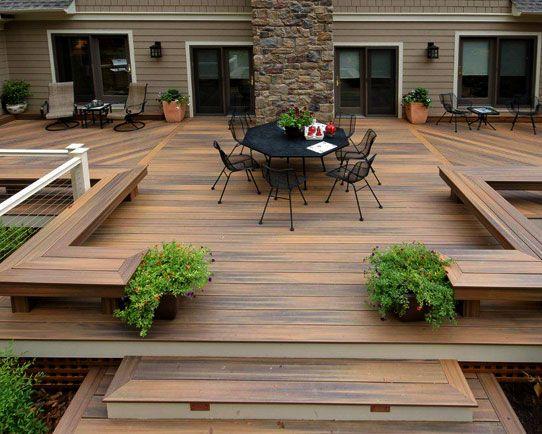 terrasse bois terrasse en décor balcon terrasse gabion terrasse [R