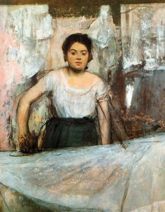 Edgar Degas - Woman Ironing, 1869 at Neue Pinakothek Art Museum Munich by mbell1975, via Flickr ✏✏✏✏✏✏✏✏✏✏✏✏✏✏✏✏ ARTS ET PEINTURES - ARTS AND PAINTINGS ☞ https://fr.pinterest.com/JeanfbJf/pin-peintres-painters-index/ ══════════════════════ Gᴀʙʏ﹣Fᴇ́ᴇʀɪᴇ BIJOUX ☞ https://fr.pinterest.com/JeanfbJf/pin-index-bijoux-de-gaby-f%C3%A9erie-par-barbier-j-f/ ✏✏✏✏✏✏✏✏✏✏✏✏✏✏✏✏