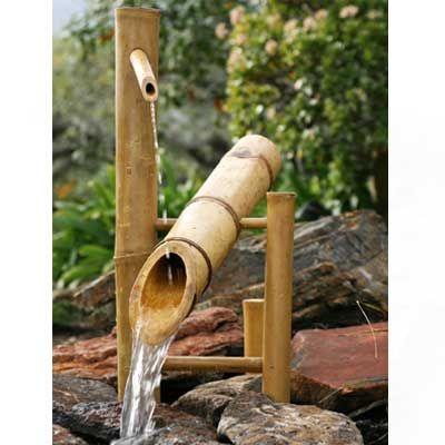 Shishi Odoshi Deer Chaser, Bamboo Deer Scarer Fountain, Japanese Shishi Odoshi | Japanese Style LLC