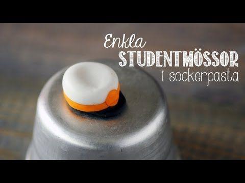 Gör enkla studentmössor i sockerpasta • Heavenly Cupcake