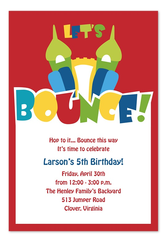 Bounce House - Birthday Invitations by Invitation