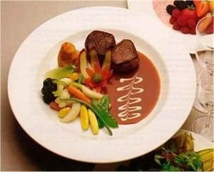 Antelope Medallions and brown sauce.  This is on my bucket list of things to try :) Website has same recipe with Venison Medallions too!