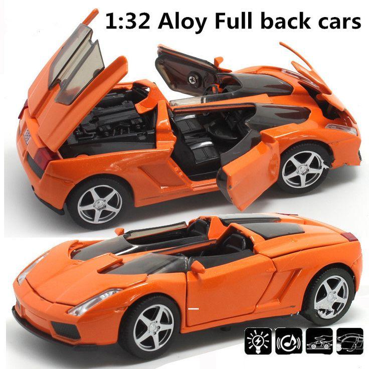 Meilleur qualité Supercar 1:32 alliage modèle, Pull Back Jouet de voiture, Bleu Coule Sous Pression jouets voitures, livraison gratuite