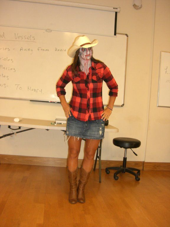 Zombie cowgirl. Great for Zomie run.