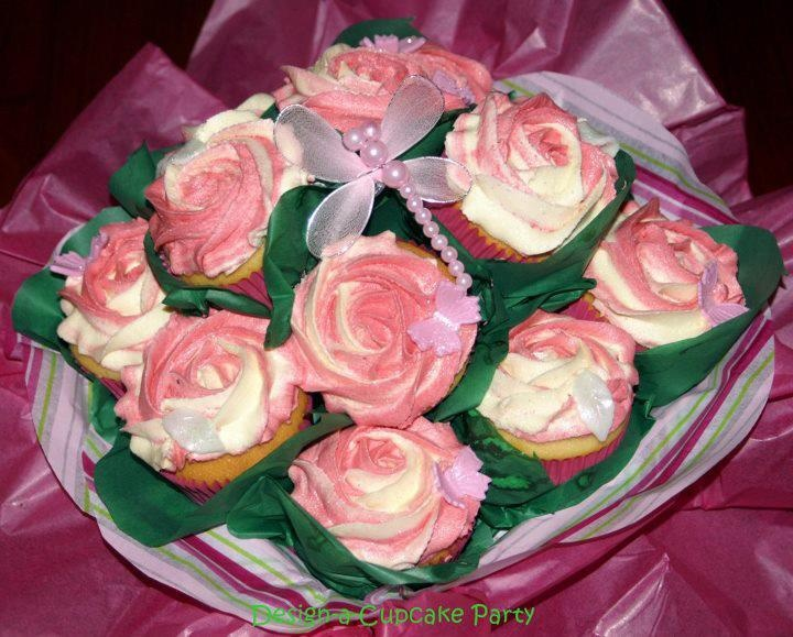 Design-a-Cupcake Party  A 12 Cupcake Bouquet - yummy Vanilla Bean Cupcakes in a keepsake box  Enter Repin Each Prize You Would LIke To Win onto your Pinterest Page Then click on this photo x 2 to take you to the Facebook page to enter You Must Be Able To Pick Up Your Prize At Market on 24th March To Enter