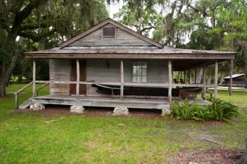 Old hunting camp in the everglades places properties for Florida cracker house plans wrap around porch