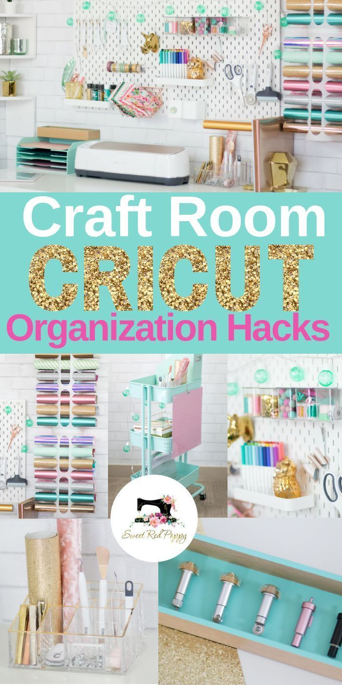 Cricut Craft And Sewing Room Organization Hacks In 2020 Craft Room Design Sewing Room Organization Craft Room Organization