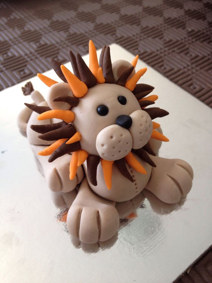 Lion from the Jungle Animal class with the mane finished.