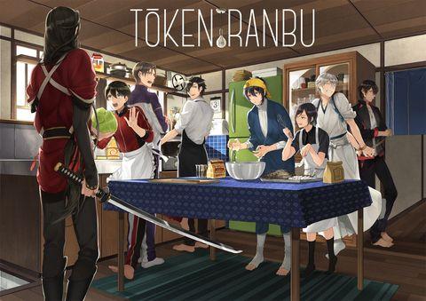 Touken Ranbu「海老フライ作るお(^ω^)」/「幸漫6/7インテとうらぶB22」のイラスト [pixiv]