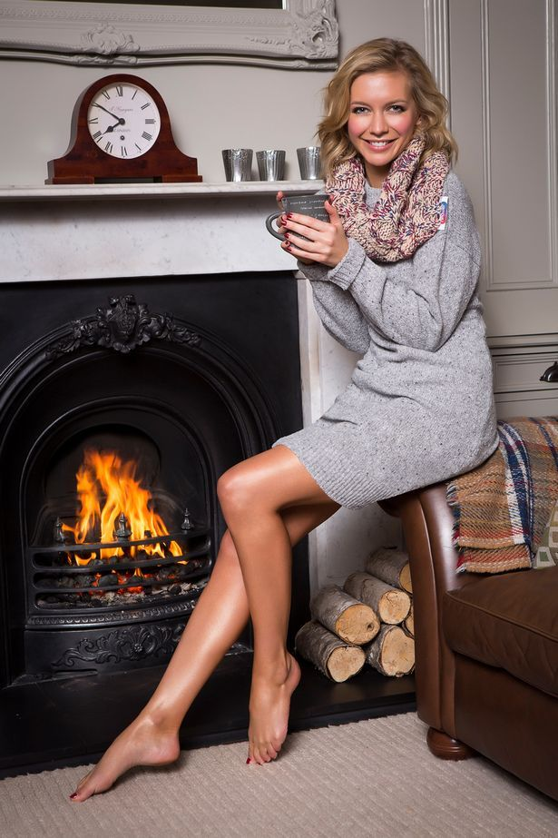 Stunning Rachel Riley tells people how to keep warm this winter in new campaign