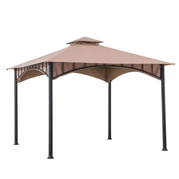 Hampton Bay 10 Ft X 10 Ft Outdoor Patio Arrow Gazebo Gghl00019 The Home Depot In 2020 Gazebo Steel Gazebo Canopy Outdoor