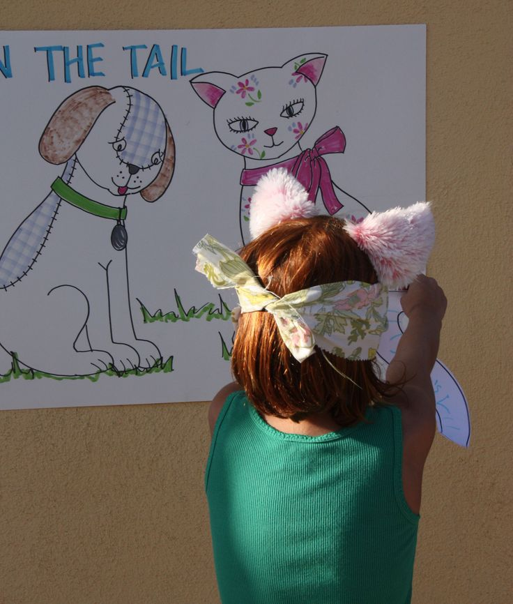 dog and cat party. pin the tale, eat outta dog bowls, collar name tags