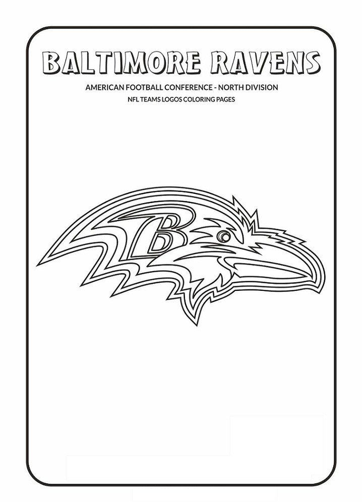 Nfl Mascot Coloring Pages Baltimore Ravens Logo Coloring Page Free Printable In 2020 Nfl Teams Logos Football Coloring Pages Cool Coloring Pages