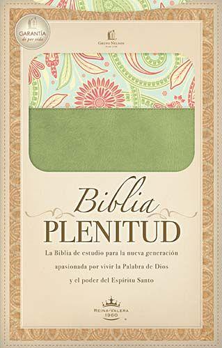 Biblia Plenitud Tamano Manual Piel Duo Verde & Diseño RVR60
