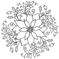 poinsettia coloring pages for adults - photo#20