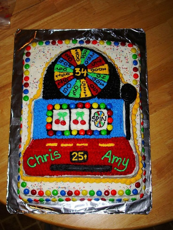 Slot Machine Cake I lifted this idea off this website again!! I loved how the cake turned out! It was so much work, but worth it! The...