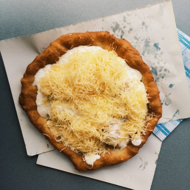 Lángos at a market in Budapest http://www.themiddlerack.com/p=930