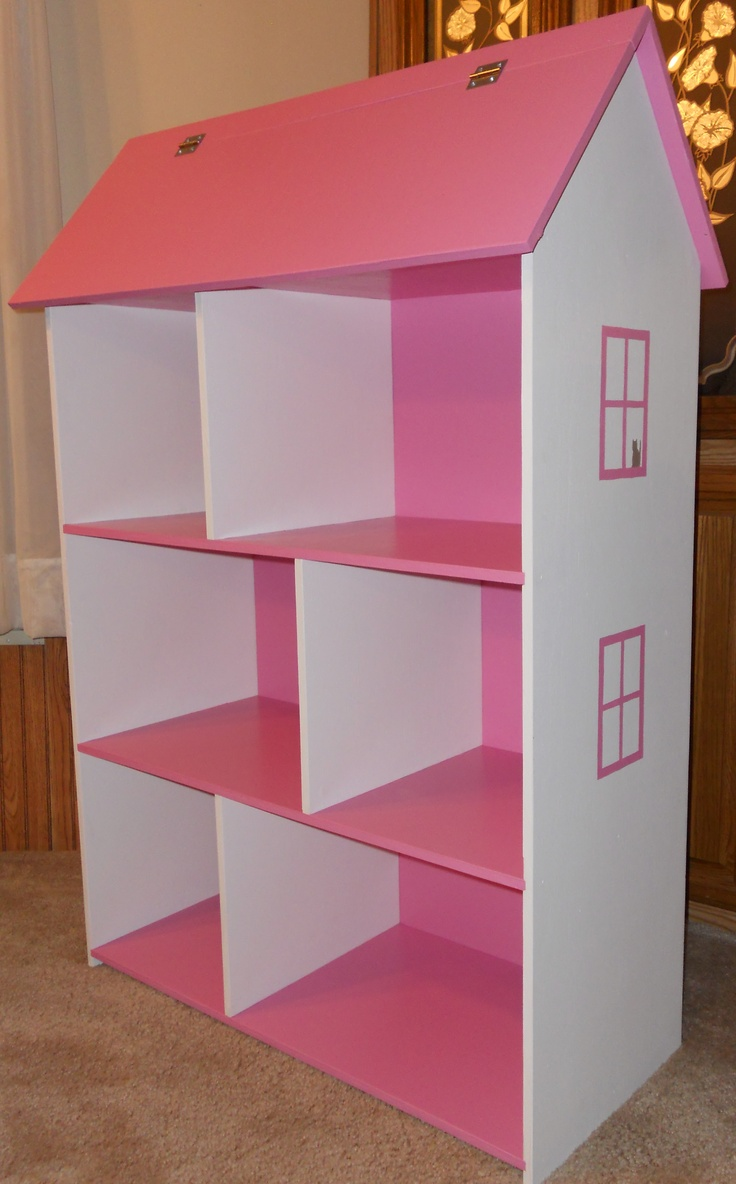 Dollhouse Bookshelf - fun to build and last for years...from Barbies to books!