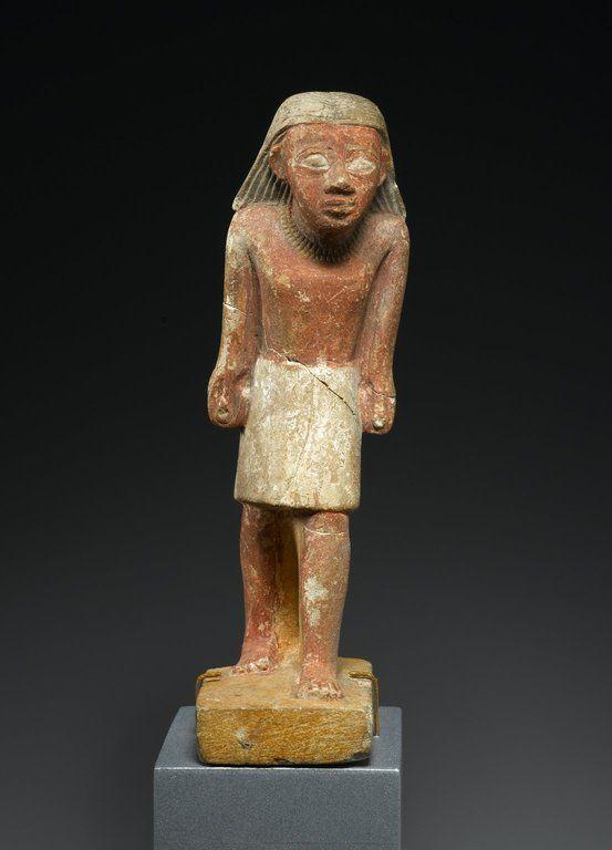 Statuette of a Striding Man. Old Kingdom, late VI Dynasty, ca. 2288-2170 B.C.