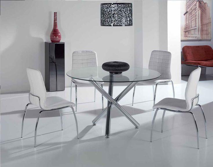 Mesa de comedor redonda 417 g silla 119 mesa de for Comedor 9 de julio morteros