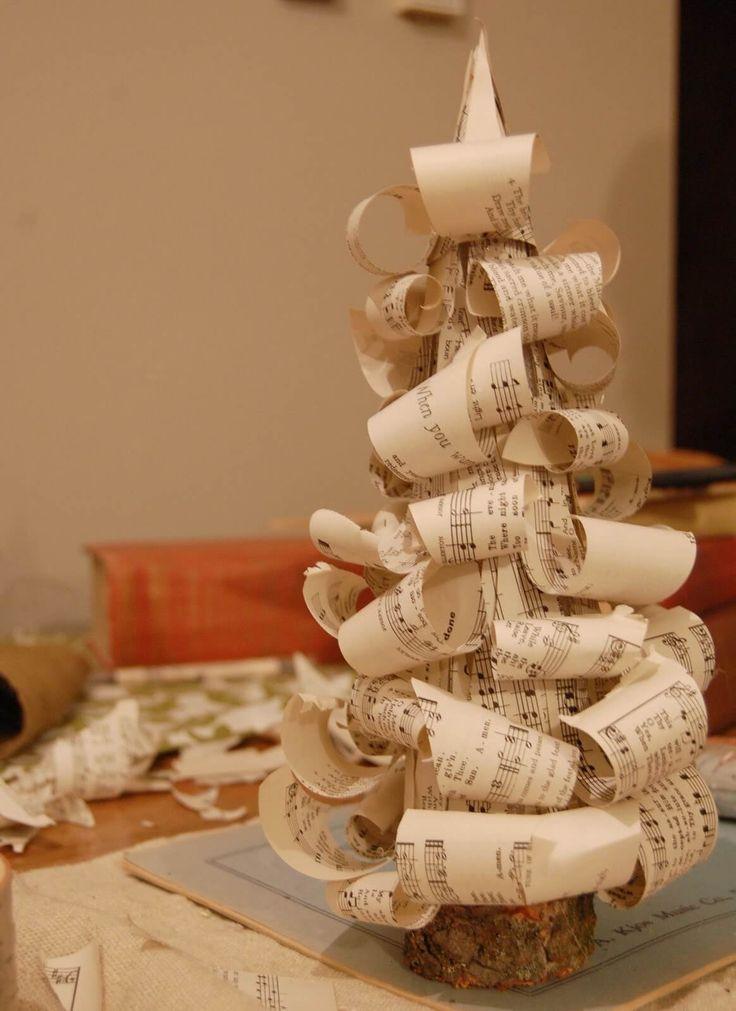Vintage Sheet Music DIY Christmas Tree