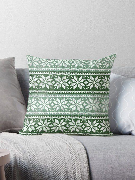 Christmas Pillow, Christmas Decorative Throw Pillow, Green ...