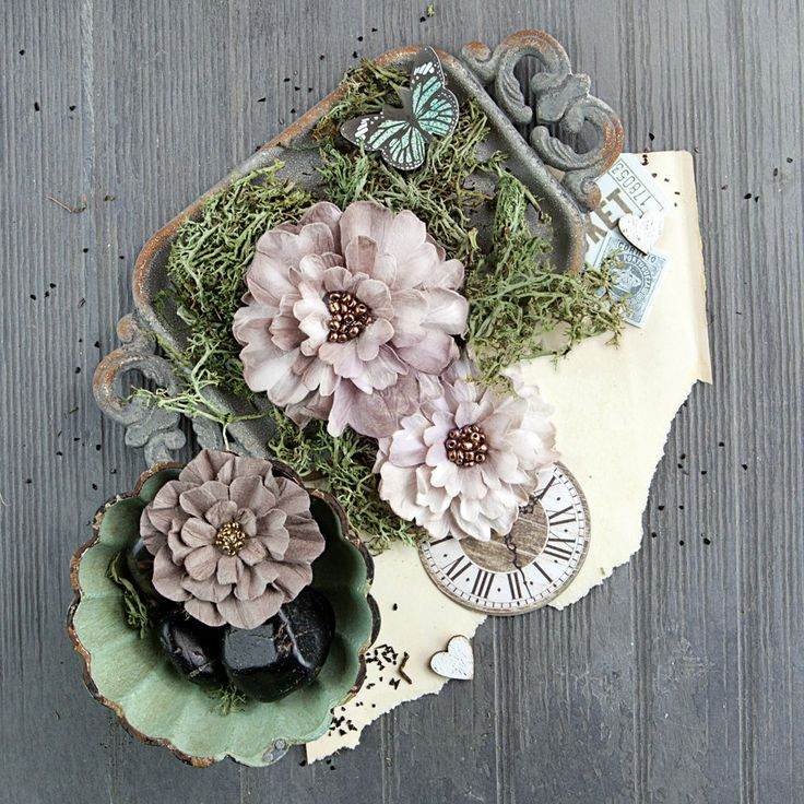 246 best beautiful prima paper flowers images on pinterest paper salvage district flowers industrialle prima marketingpaper mightylinksfo
