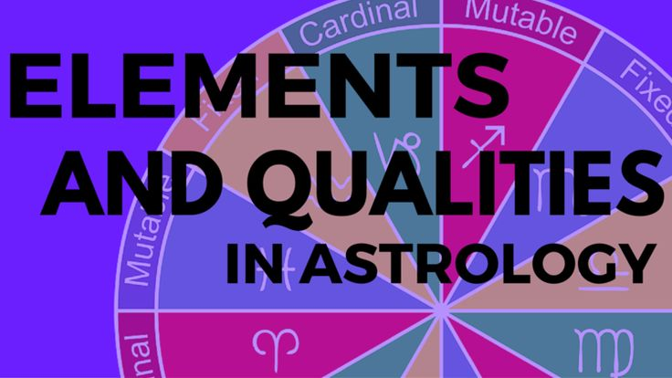 Each astrological Sign is one half Element, one half Quality. And learning  what this means is your frist lesson in learning astrology.