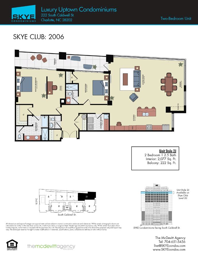 SKYE Condominiums Floor Plans | Charlotte Penthouse floor