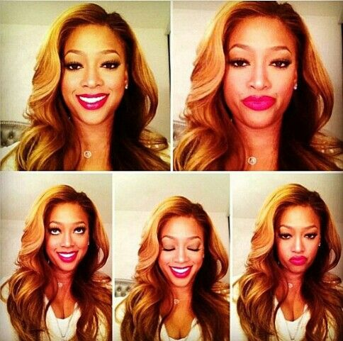 I think this is the best I have seen Trina look with hair this color in a while! I love the lace front wig!