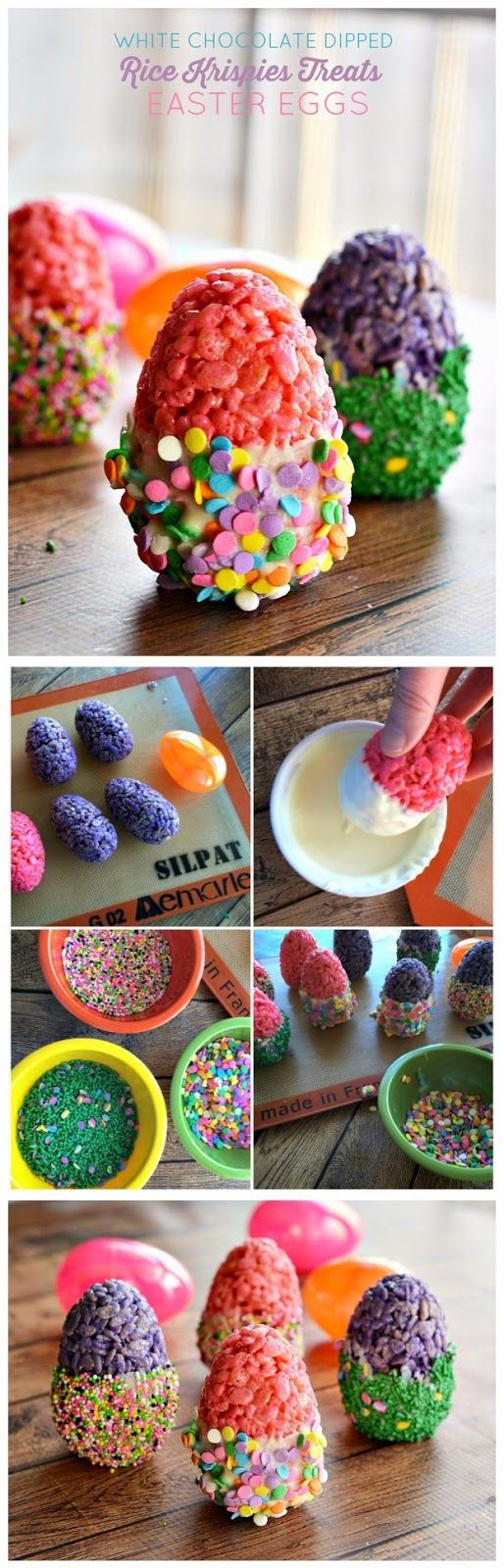 DIPPED & DECORATED RICE KRISPIES TREATS® EGGS