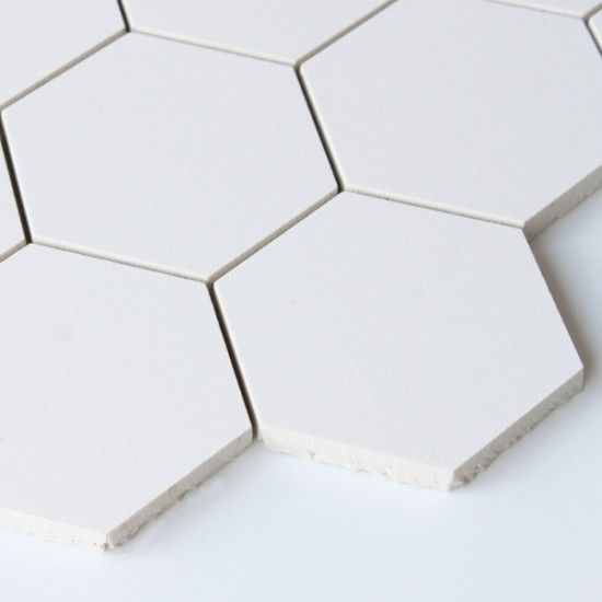 Superwhite Polished Hexagonal White Mosaic Tile 308 x 265