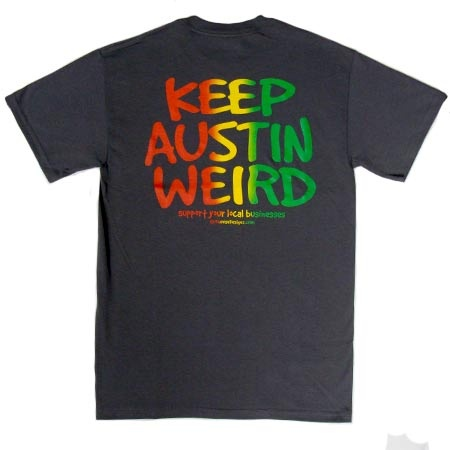"""Tyler's has a big selection of """"Keep Austin Weird"""" and other local Austin t-shirts. http://tylersaustin.com"""