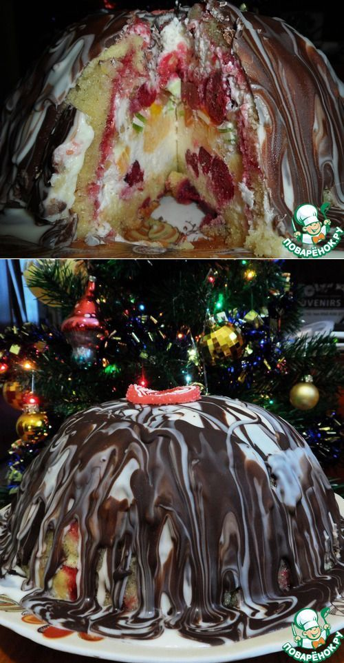 Торт 'Зимняя бомба' от Джейми Оливера.