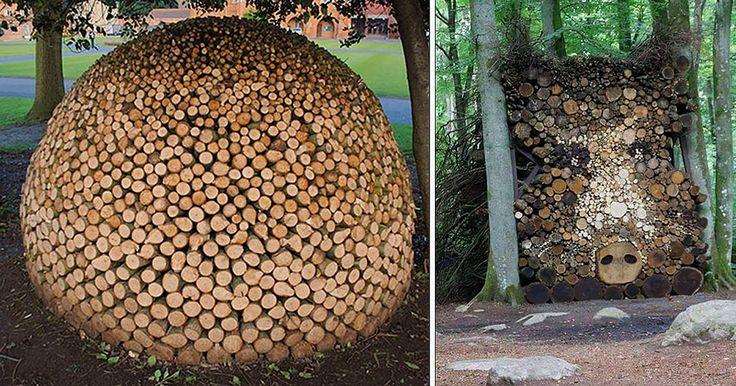 10 Personas que convirtieron el apilamiento de leña en una forma de arte