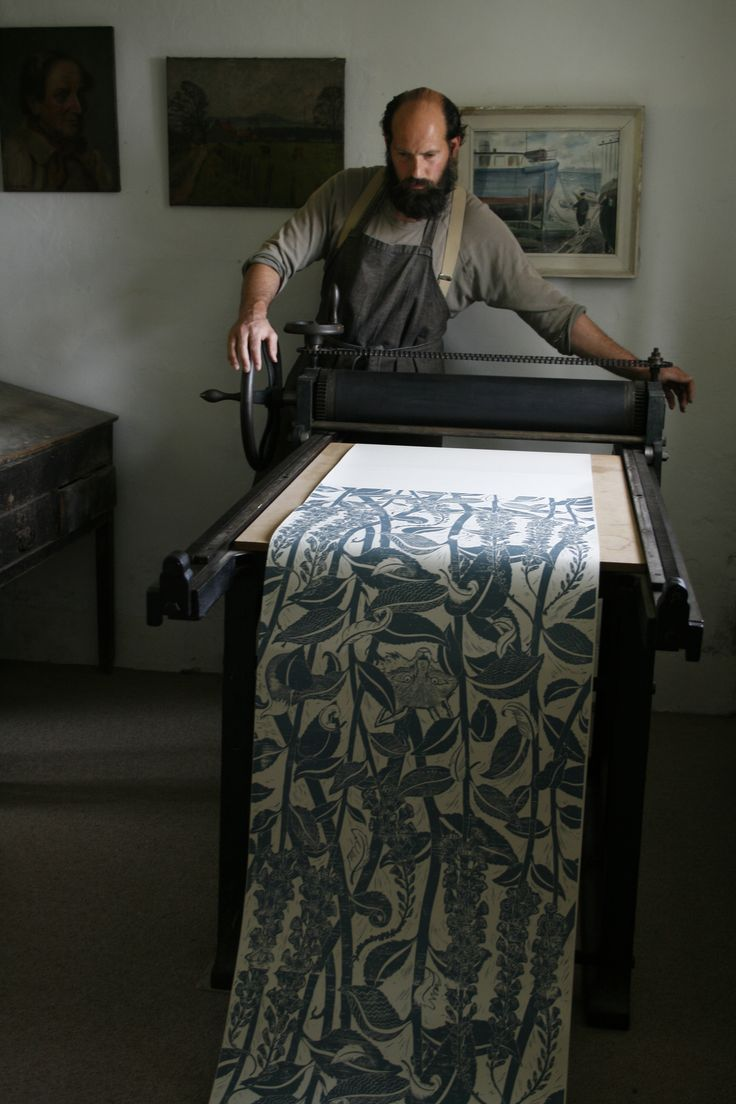 Hand-Block Printer Cameron Short | The New Craftsmen | Luxury Handmade Craft