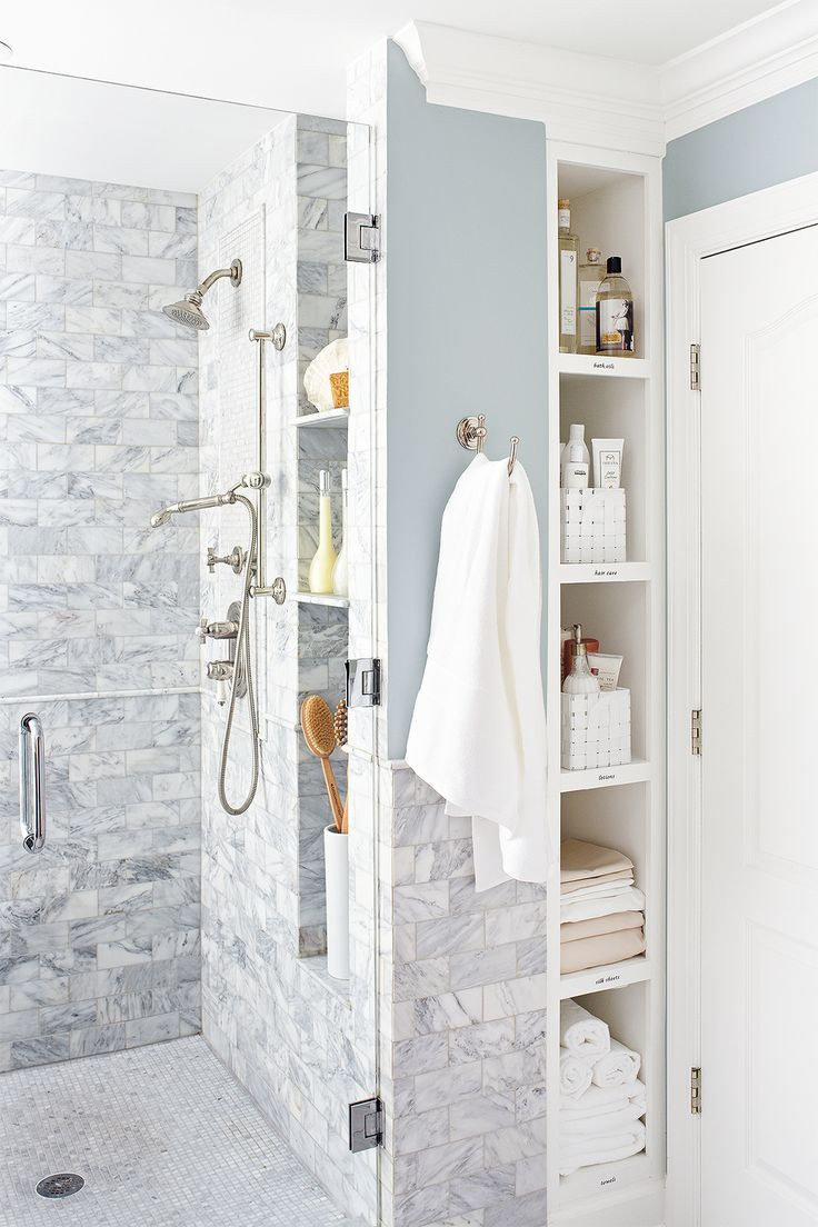 20 Stunning Walk In Shower Ideas For Small Bathrooms Recessed Shelves Bathroom Remodel Master Small Bathroom