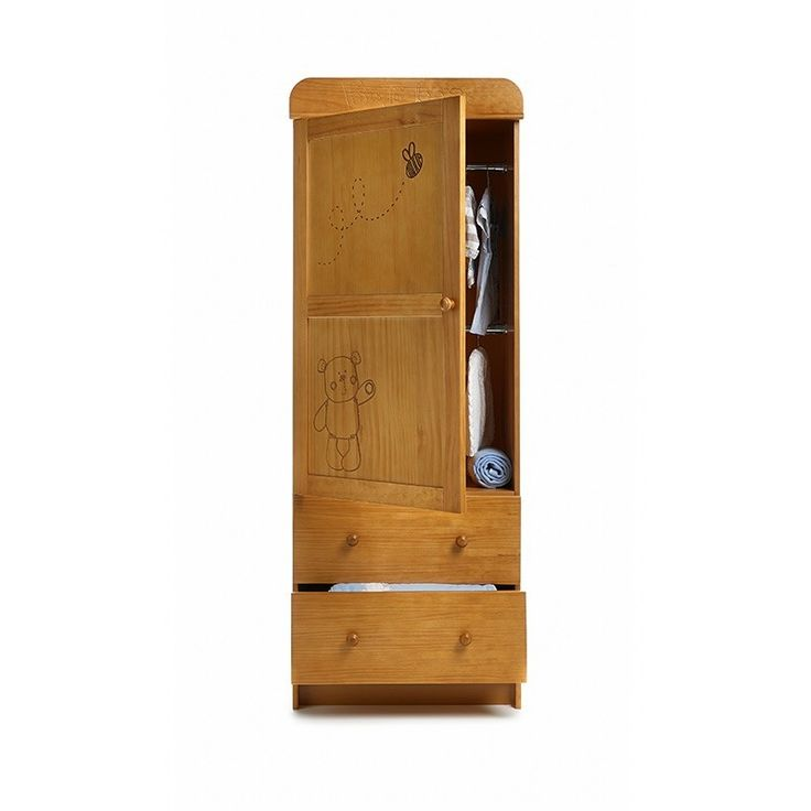 OBaby B is for Bear Single Wardrobe-Country Pine Great for storage in areas with limited floor space, this B is for Bear single wardrobe has a modern and timeless design that is compact enough to fit nicely with other large items of furniture, but b http://www.MightGet.com/march-2017-1/obaby-b-is-for-bear-single-wardrobe-country-pine.asp