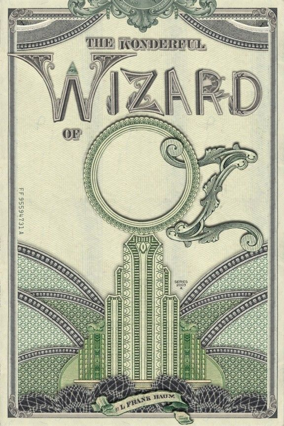 The Wonderful Wizard of Oz - Recovered books contest - Bobby Solomon [to go with my other WoO poster]