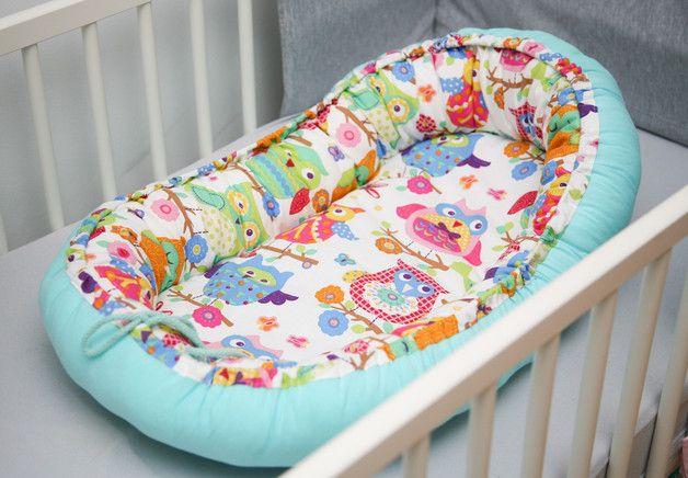 Kokon dla noworodka większy - sowy - Beata_Turczynska - Kokon dla noworodka