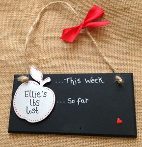 Apple Weight Loss Countdown Plaque