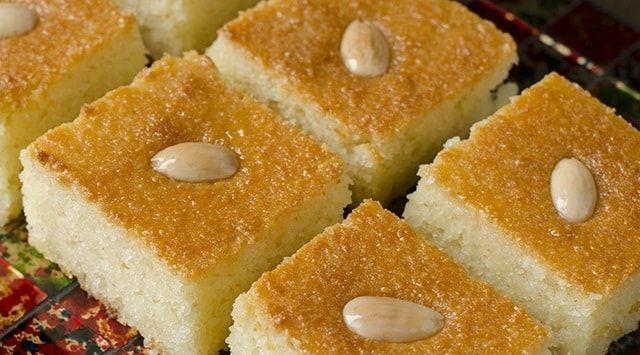طريقة تحضير البسبوسة الجزائرية بذوق الليمون Desserts Middle Eastern Desserts Food