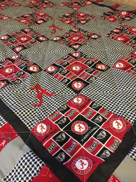 University of Alabama Quilt by NeNesQuilts on Etsy