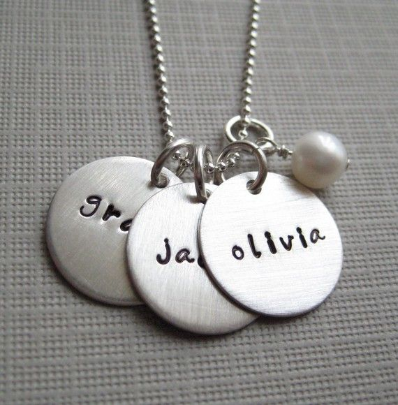 Personalized necklace  Hand stamped Jewelry  by jcjewelrydesign, $53.00....love it