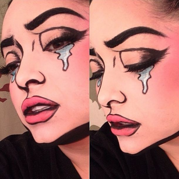 Supercool comic book makeup by Pritylipstix using Sugarpill. Awesome!! http://instagram.com/p/nenHAbxROD