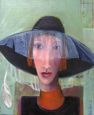 BEA VAN TWILLERT -- portret 1 - olieverf