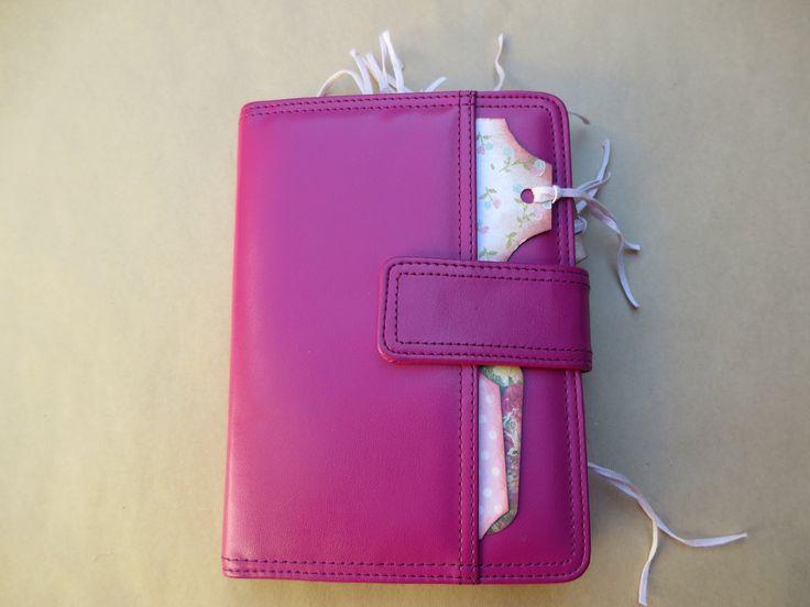 Handmade Junk Journal Recycled Binder, Hot Pink Album Diary Sketchbook Scrapbook Notebook TN, Woodland Flowers Pocket Purse Journal by Maroonmanx on Etsy